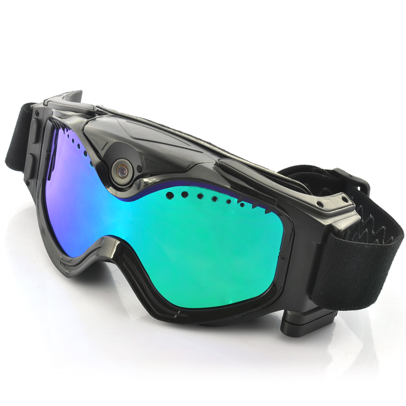 (M) Skiing Goggles w/ Built-In 720p Action Camera (M)