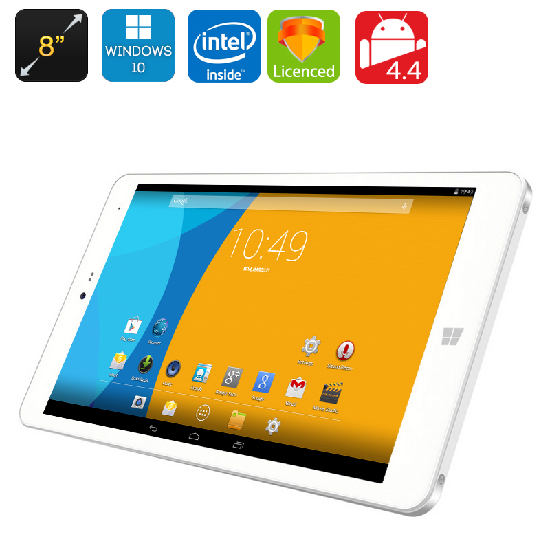 CHUWI Hi8 Dual OS Tablet - Windows 10 + Android 4.4, 8 Inch IPS Screen, Bluetooth 4.0, 2GB RAM + 32GB Memory