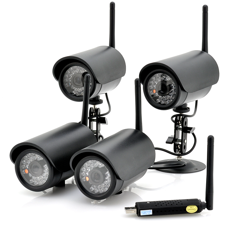 (M) 4 Wireless Cameras + USB DVR (M)