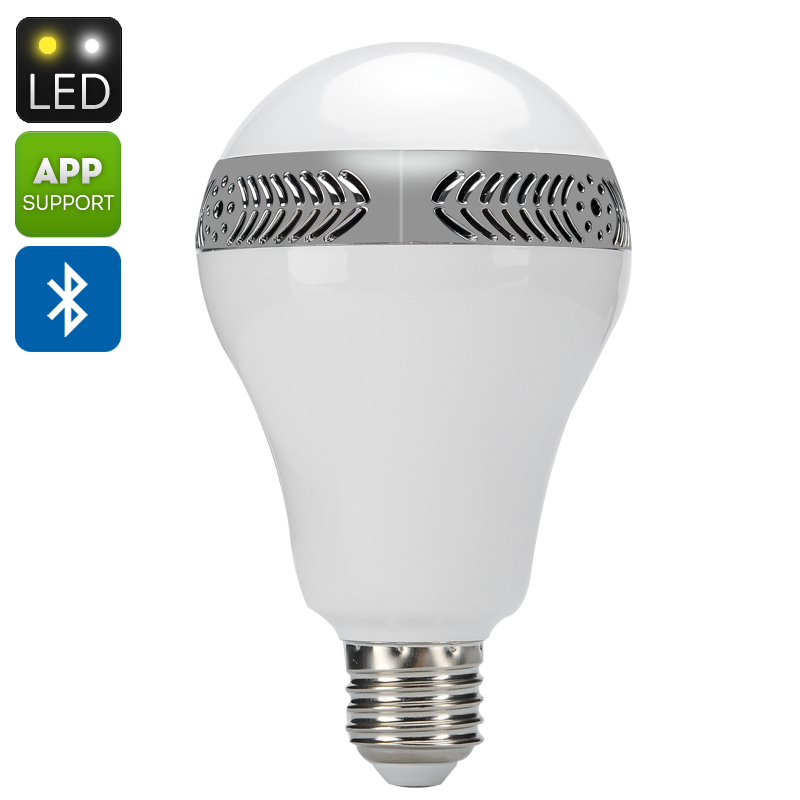 E27 led light bulb speaker 9 5 watt light 5 watt for Led light bulb with built in bluetooth speaker