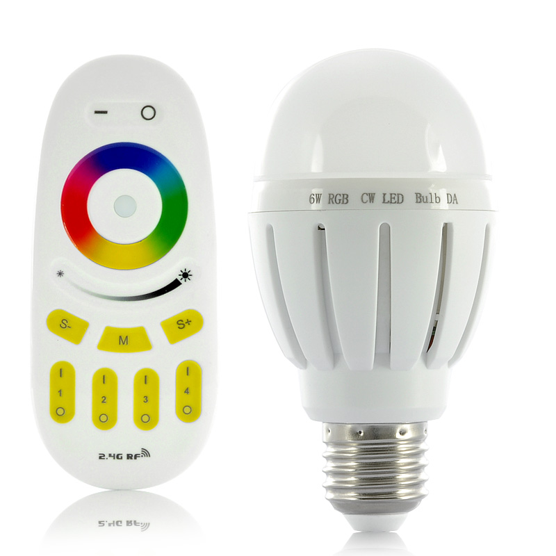 (M) 6W RGB LED Light Bulb w/ Remote Control (M)