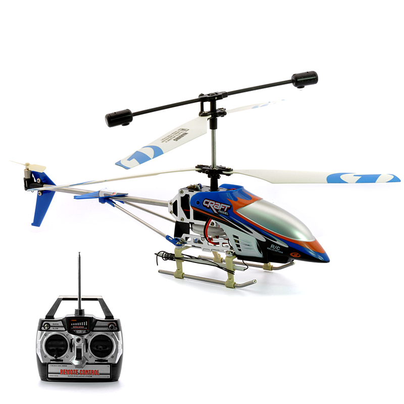 (M) 3CH RC Helicopter w/ Gyro + LEDs - Air Strike (M)