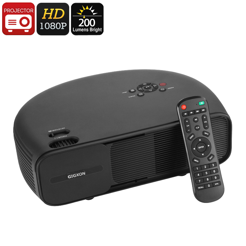 G760 Home Theater HD Projector - 1080p Support, 200 Lumen, 150-Inch Image Size, 2W Speaker, VGA, HDMI, USB