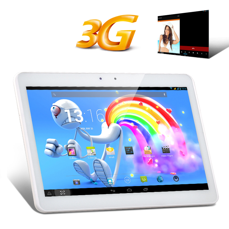 (M) 10.1 Inch IPS 3G Tablet PC (White) (M)