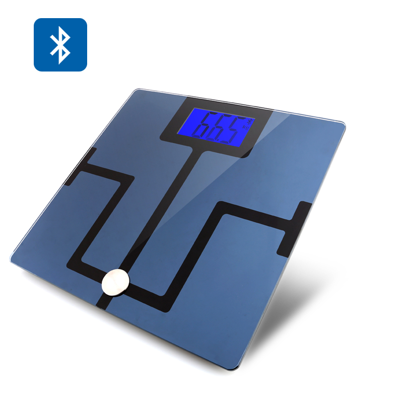 Digital Bluetooth Body Fat Scale - Body Composition Analyzer, 4.3 Inch LCD display, Free Android + iOS App