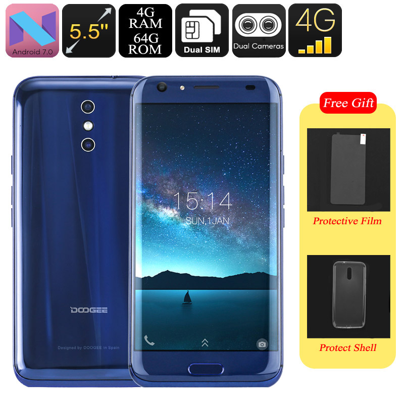 HK Warehouse Doogee BL5000 Android Smartphone - Android 7.0, Octa-Core CPU, 4GB RAM, 1080p, 5050mAh, 13mp Dual-Cam (Blue)