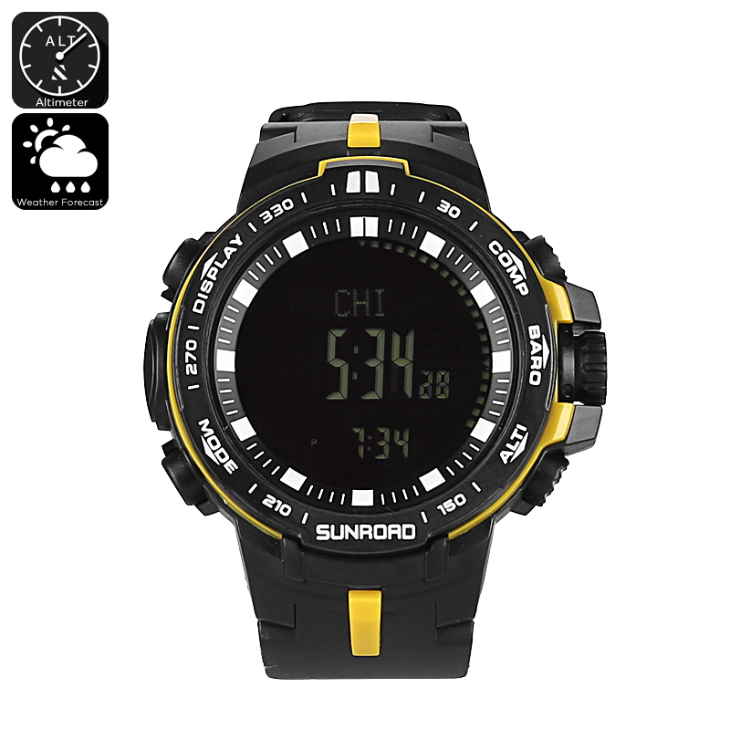 Sunroad Outdoor Watch - Altimeter, Barometer, Thermometer, Weather Forecast, Time And Date, Fishing Features
