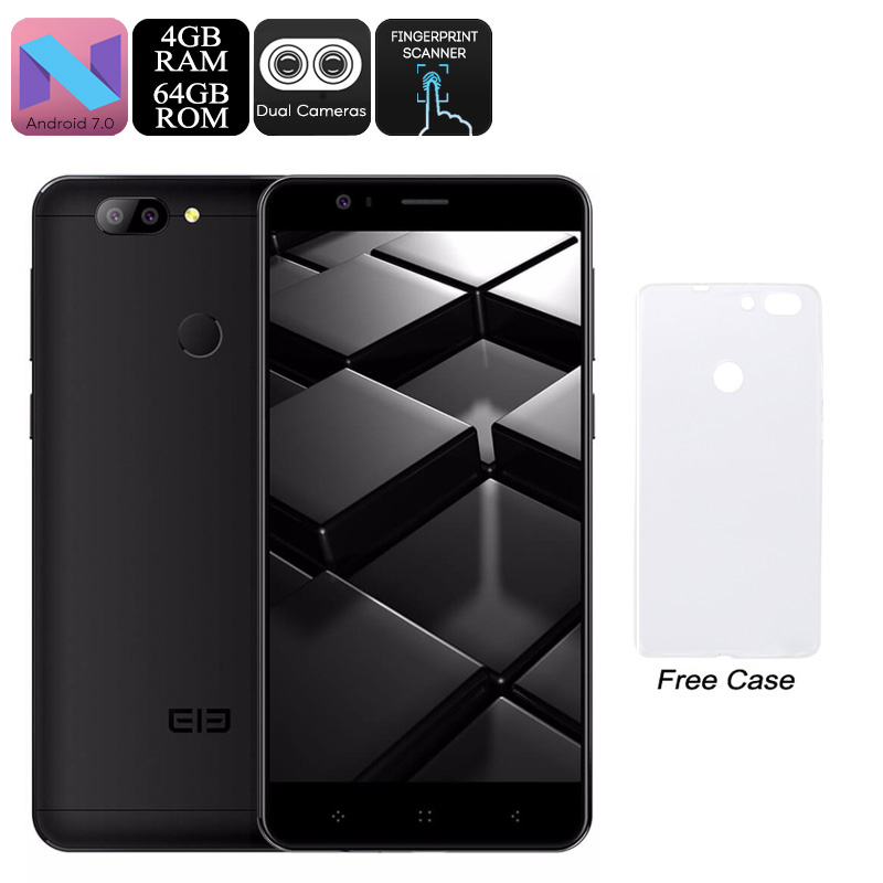 HK Warehouse Elephone P8 Mini Android Phone - 5-Inch FHD, Octa-Core CPU, Android 7.0, 4GB RAM, 13MP Dual-Cam, Dual-IMEI (Black)