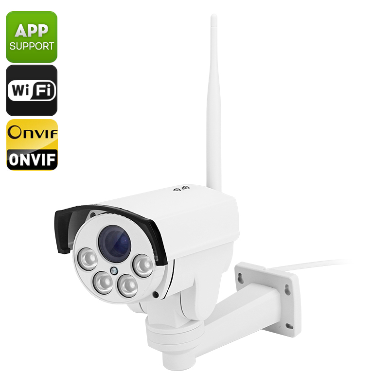 B87W Outdoor IP Camera - 1/2.8 Inch SONY CMOS, PTZ, ONVIF 2.0, IP66, Wi-Fi, Android + iOS Support, 50M Night Vision