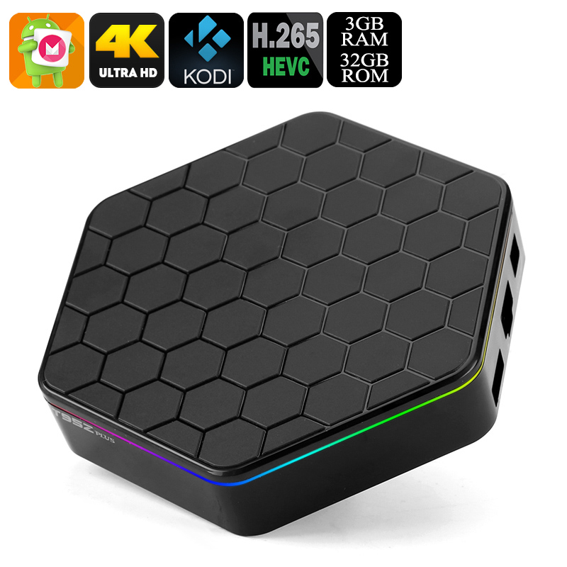 Android TV Box Sunvell T95Z Plus - Dual-Band WiFi, Google Play, 4K Resolution, Kodi TV, Octa-Core CPU, 3GB RAM, 32GB Storage