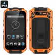 Rugged IP68 Android Smartphone 'T3S' - Quad Core CPU, 1GB RAM, 4.3 Inch QHD Display, Dual SIM, 13MP Camera + Android (Orange)