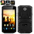 V Phone X3 Rugged Smartphone - Android 5.1, 5.5 Inch HD Screen, IP68, 4500mAh Battery, Two SIM, FM Radio (Black)