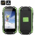 J5 Smallest Waterproof Phone - Dual Core MTK6572W CPU, 2.4 Inch Display, IP54, Dual WCDMA/GSM SIM (Green)