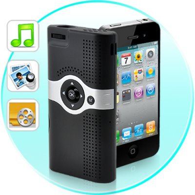 Mini projector for iphone 4s 4 3gs released apple for Apple iphone projector
