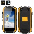 J5 Smallest Waterproof Phone - 2.4 Inch Display, Dual Core CPU, Dual SIM, IP54 Rating (Yellow)