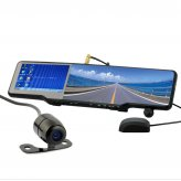 All-in-one Car Bluetooth Rearview Mirror Kit (GPS, DVR, Wireless Camera and More)