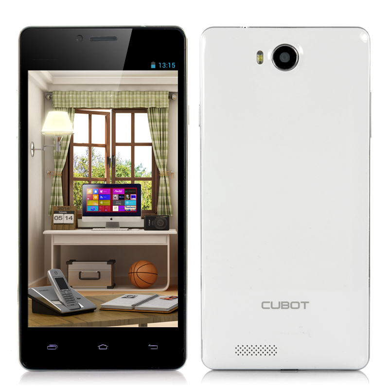 (M) Cubot S208 5 Inch Quad Core Phone (White) (M)