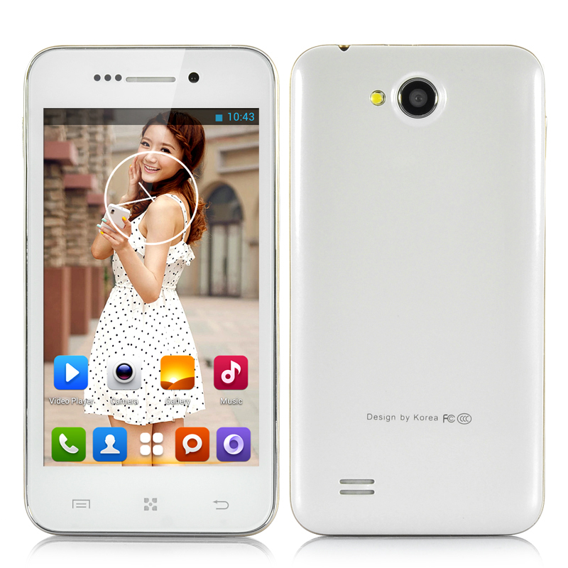 (M) 4 Inch Dual Core Android Smartphone (White) (M)