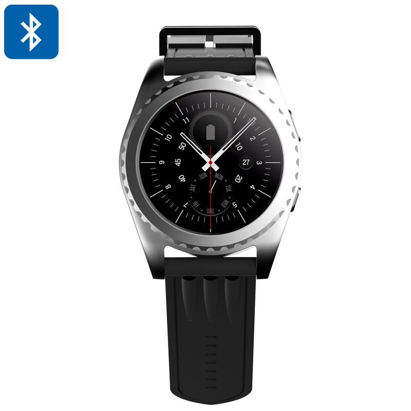 Bluetooth Smart Watch - 1.2 Inch Touch Screen, Phone Calls, Messages, Sleep Monitor, Pedometer, Heart Rate Monitor (Silver)