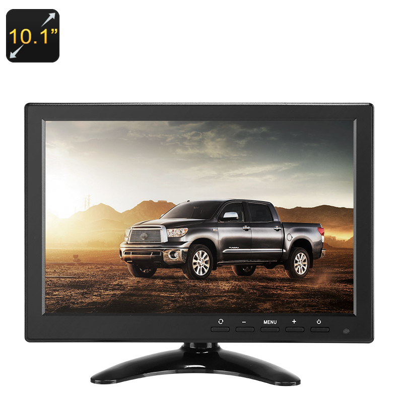 10.1-Inch TFT LCD Monitor - 1280x800p, HDMI, VGA, AV, USB, BNC, IPS Display, Bui
