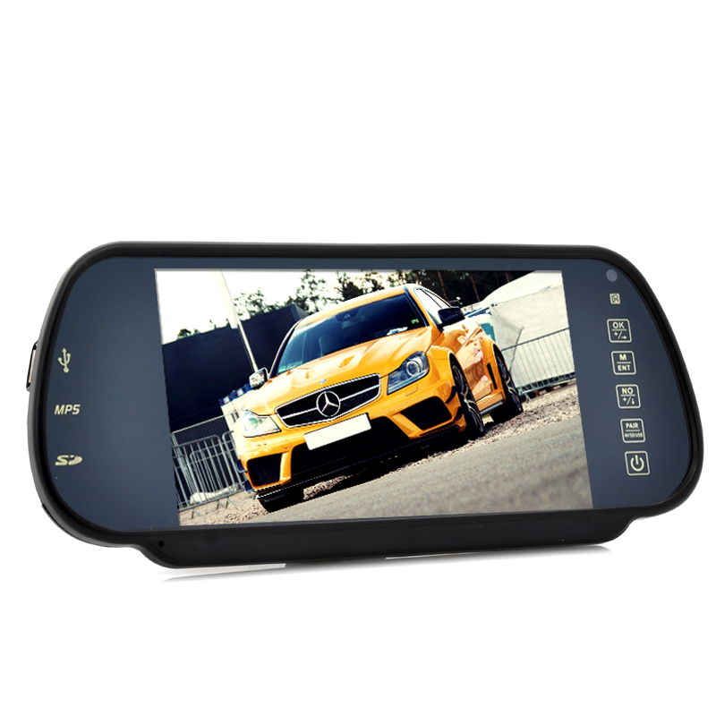 (M) Rear View Mirror Monitor and MP4 Player (M)