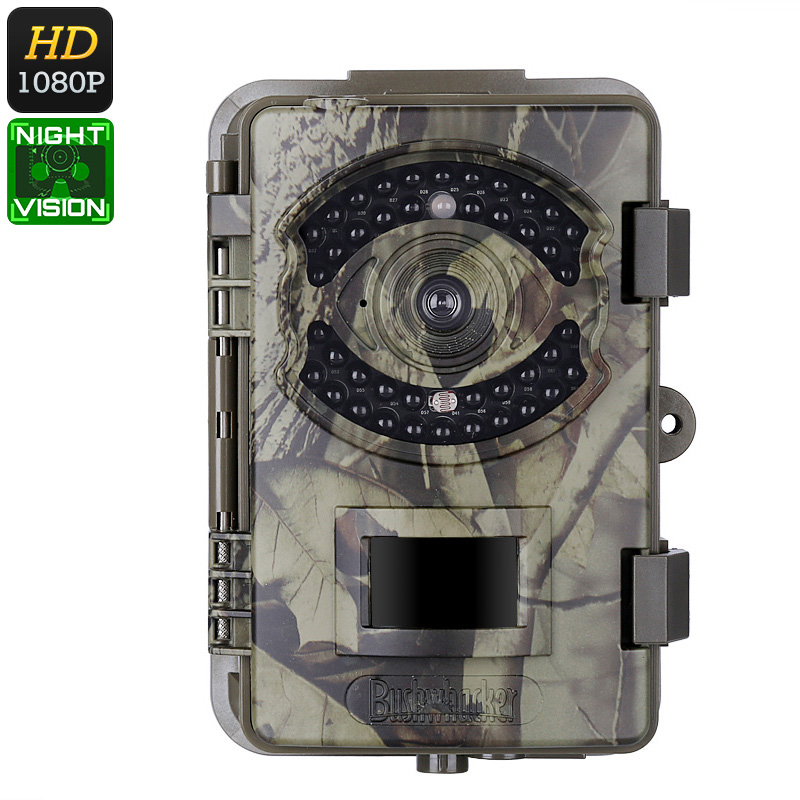 1080p Trail Camera - FHD Video, 16MP Pictures, PIR Sensor, 20m Night Vision, IP66 Waterproof, Time Stamp, 2.4-Inch Display