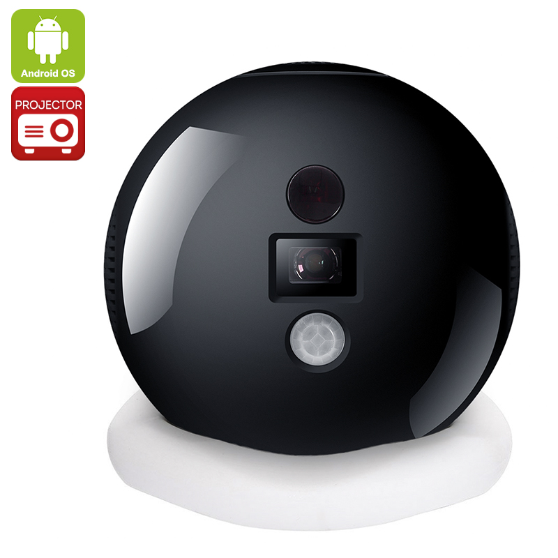 Haier Leader iSee Mini Projector - 50 Inch Projection, Android OS, Quad Core CPU, Wi-Fi, Bluetooth, Miracast, Happy Cast