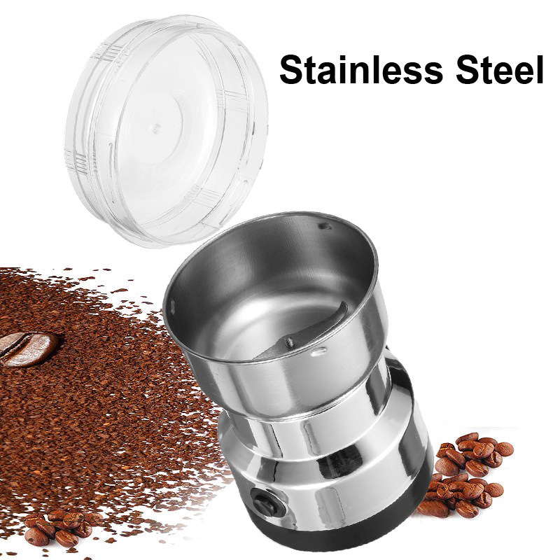 Coffee Bean Grinder - Stainless Steel Blades, Easy To Use, Safe Design