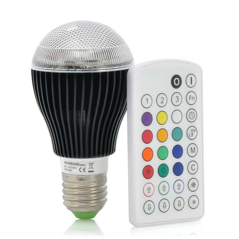 (M) 9 Watt Color LED Light Bulb - iSunroad (M)