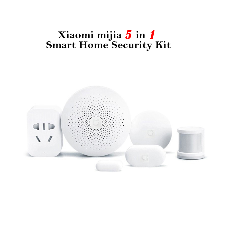 Smart Home Security Kit Xiaomi - Gateway, Window And Door Sensor, Smart Switch, Human Body Sensor, Smart Outlet