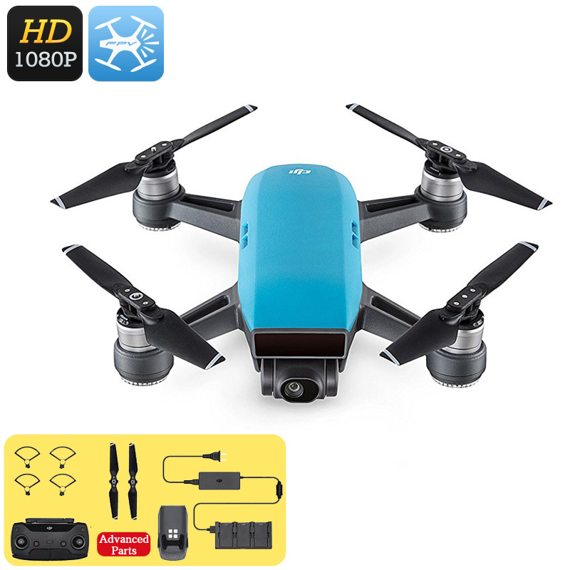DJI Spark Mini Drone - 1080P Camera, 12MP CMOS, 3D Sensor System, WiFi, FPV, 50KM/h, Gesture Mode, Auto Take-Off And Landing