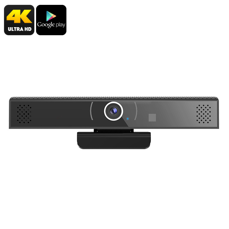 Android TV Box - 4K Support, Bluetooth 4.1, WiFi, Google Play, Quad-Core, 1MP Camera, Build-In Mic And Speakers, DLNA, Airplay