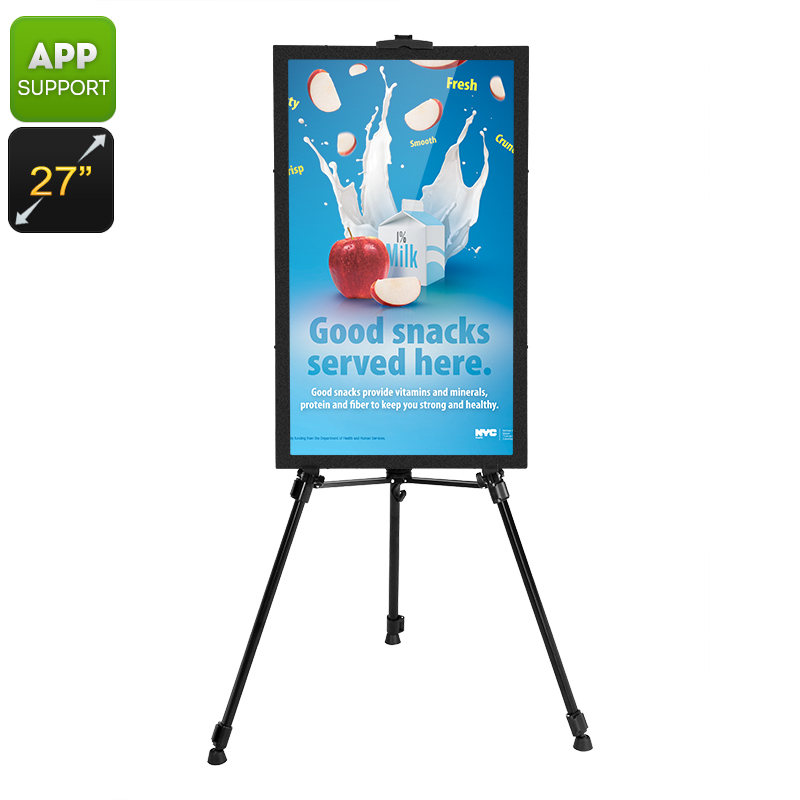 Intelligent 27-Inch Commercial Sign - Android OS, Audio Out, iOS + Android App