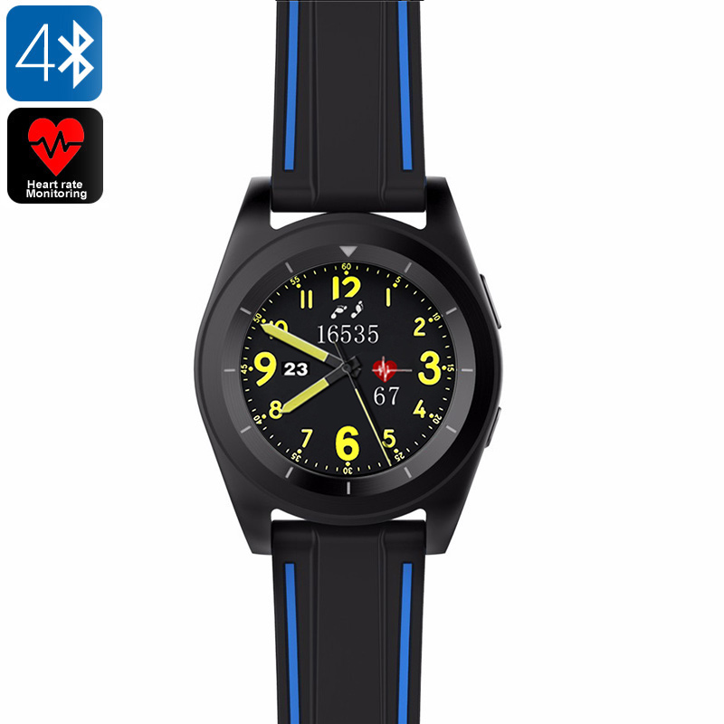 No.1 G6 Sports Watch - Heart Rate Monitor, Pedometer, Sleep Monitor, Sedentary Reminder, Bluetooth 4.0, APP ( Black TPU)