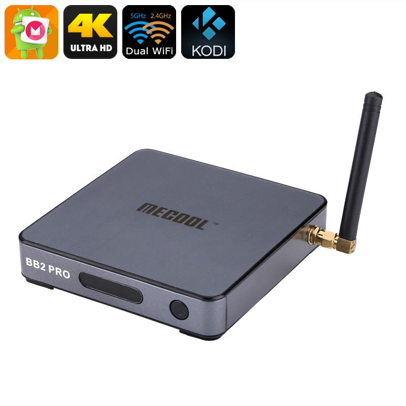 MECOOL BB2 PRO Android TV Box - Android 6.0, 4K Support, Miracast, Airplay, Octa-Core CPU, 3GB RAM, Google Play, Kodi TV