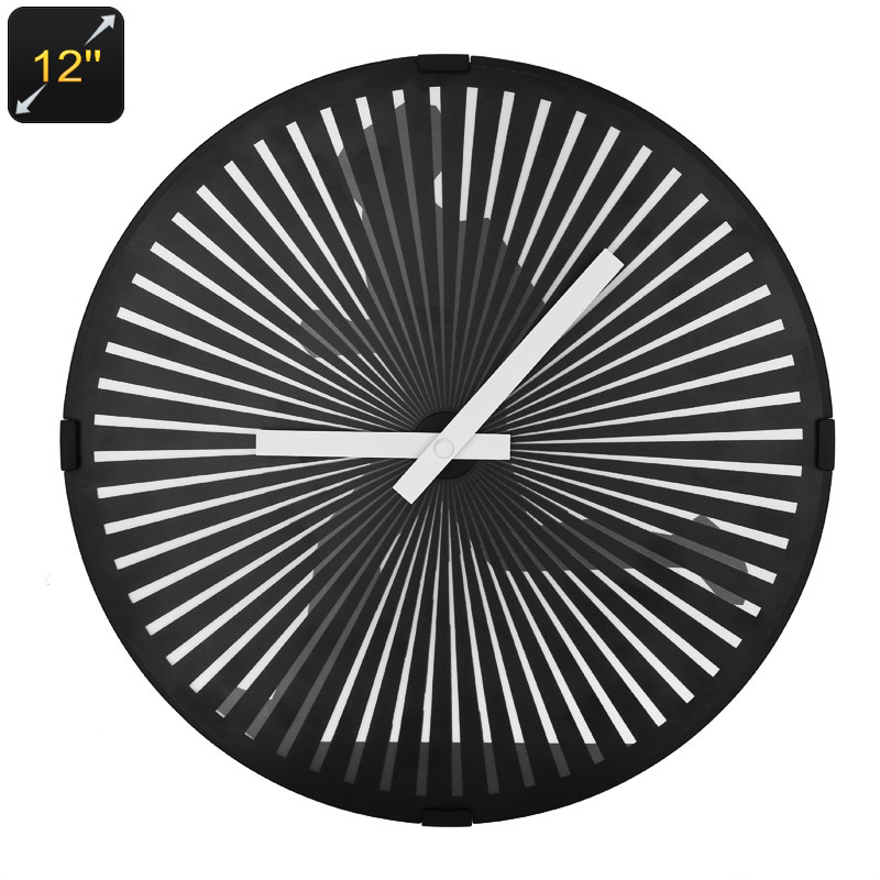 Animated Zoetrope Wall Clock - 12 Inch Face, Running Man Animation, Modern Design, Quartz Movement, Ultra Quiet