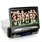 King Viper In Dash Car DVD (1DIN GPS Swivel Detach HD Touchscreen DVB-T)